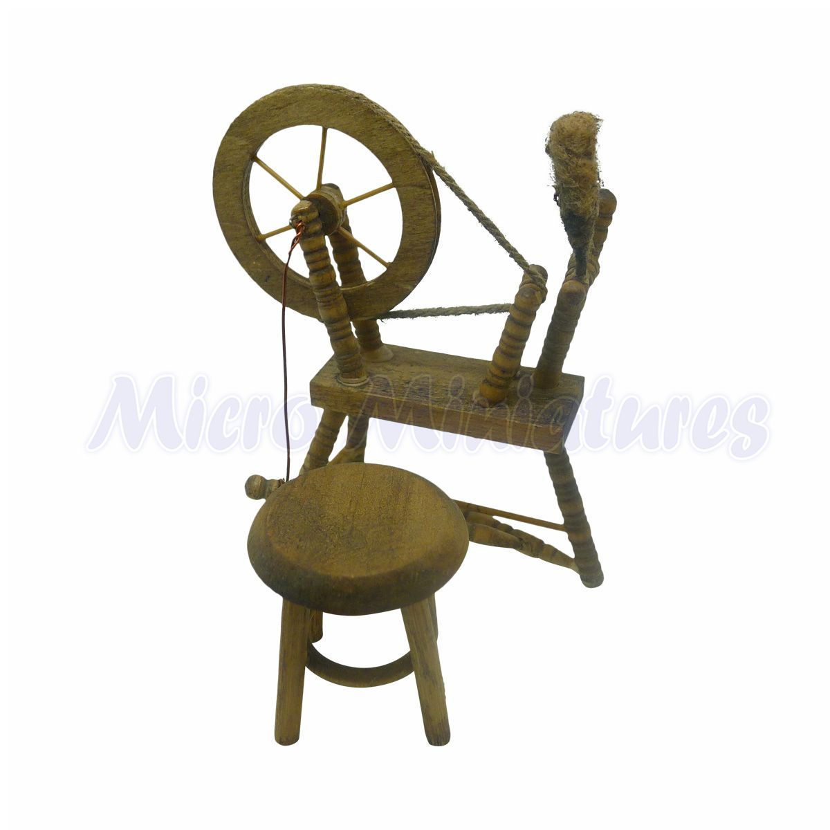 Excellent Dolls House Spinning Wheel And Stool 1 12Th Scale Creativecarmelina Interior Chair Design Creativecarmelinacom