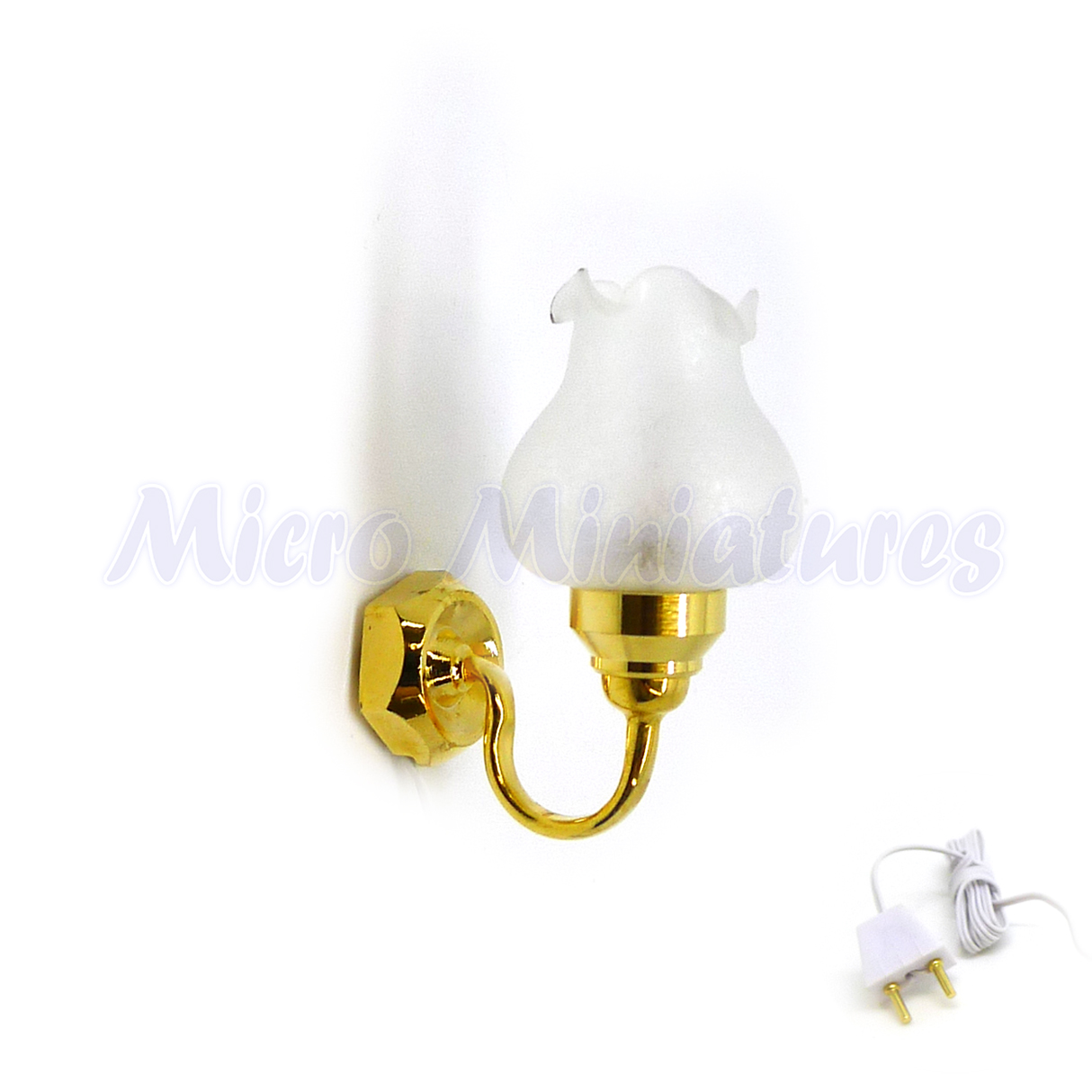 01439 Dolls House Floral Shade Wall Sconce 1//12th Scale